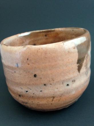 """Red"" raku chawan, made of clay from Charlton, On"