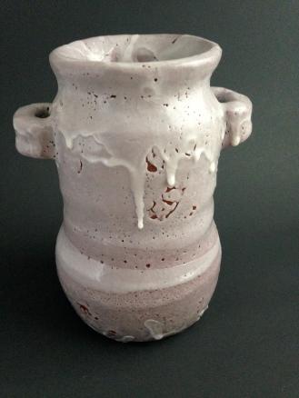 "Small ""red"" shino vase."