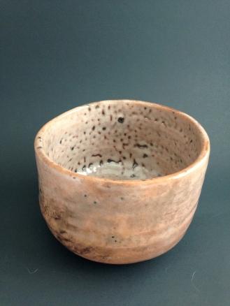 """Red"" raku chawan, made of clay from Charlton, Ontario"