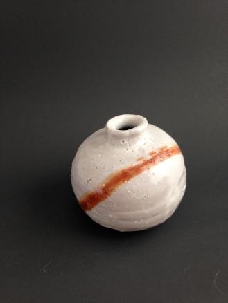 Shino bud vase.
